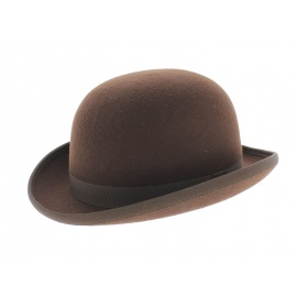 chapeau-melon-marron-roux