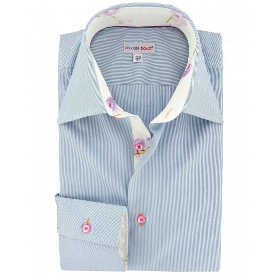 chemise-cintree-micro-milleraies-marine