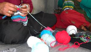 comment est tricoté un bonnet