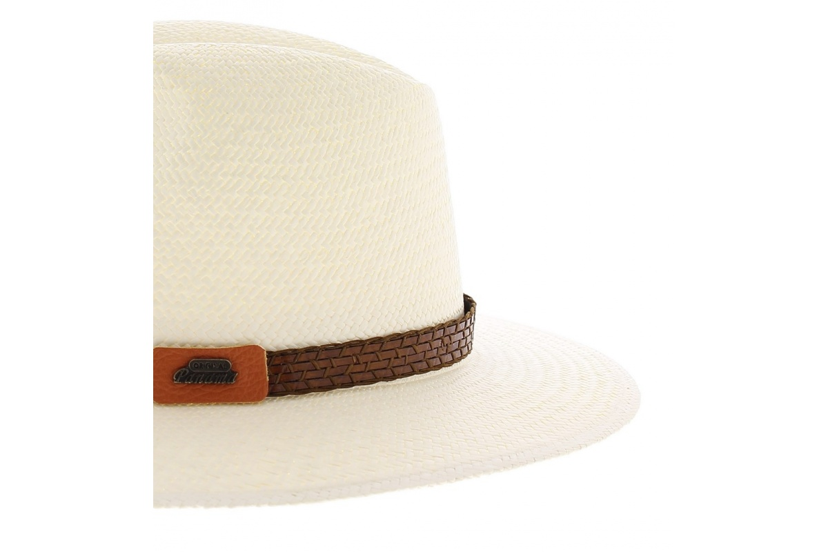 Chapeau panama cuanca avec son tressage en chevron